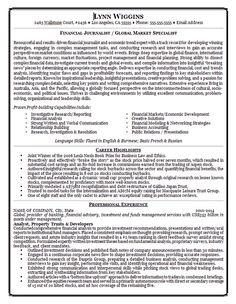 financial journalist resume example - Resume Sample For Job