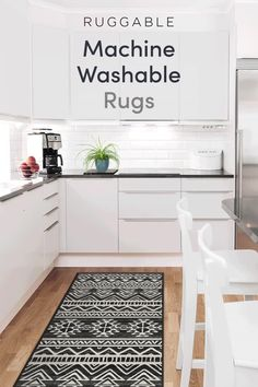 Ruggable, the original machine washable rug system! The easiest way to k… Ruggable, the original machine washable rug system! The easiest way to keep your home clean and stylish. Kitchen Rug, New Kitchen, Kitchen Design, Stylish Kitchen, Kitchen Paint, Kitchen Island, Diy Interior, Interior Design Living Room, Design Interiors