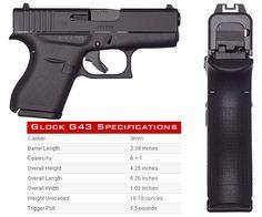 Glock G43 9mm Mais Pocket Pistol, Guns And Ammo, Weapons Guns, Fire Powers, Concealed Carry, Self Defense, Firearms, Hand Guns, Glock 9mm