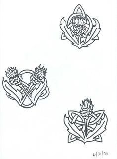 Celtic Knot And Thistle Tattoo By ZzDarkChizz On DeviantART