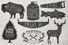 Rustica Vector Pack Vol. 2 + 8 Logos by MakeMediaCo. on Creative Market