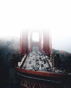 Foggy Bridge by @mindz.eye #sanfrancisco #sf