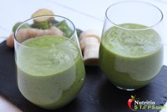 Healthy Quick Easy Thick Green Ginger Banana Smoothie
