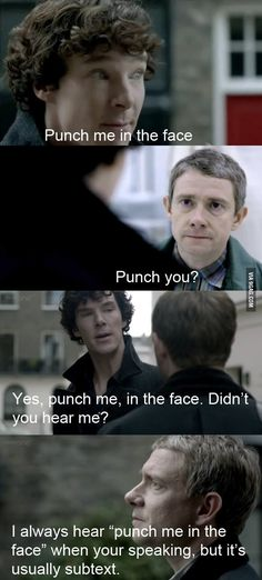 The inspiring friendship of Sherlock Holmes and John Watson. Like this.
