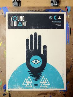 Young The Giant Detroit, MI Majestic Theatre by Nerl Says Design
