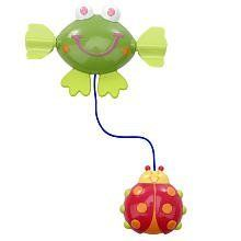 Baby Bath Wind Up Toy ~ Frog & Ladybug by ESFB. $12.61. Plastic frog winds up and tows a ladybug. This wind-up toy is perfect for children in the tub. Ages 2 Months+. Made from colorful plastic. The Especially for Baby Garden Wind-Up Toy, will provide great fun for your child in the tub. Just wind the frog up, place it on the water's surface, and watch it go! Frog dimensions