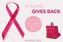 Maggie Bags Backpack Purse - A Bag That Gives Back - Support Breast Cancer Awareness #MaggieBags #BreastCancerAwareness