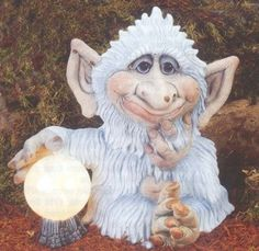 """TL Chepo the Troll 16"""" ready to paint ceramic bisque"""