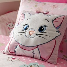 Disney Marie Aristocats Baby Pink Cushion