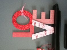 My DIY Valentines decor. Better late than never! :-)