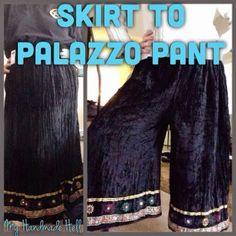 My Handmade Hell: Skirt to PALAZZO PANT!!!