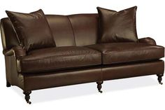 Lee Industries: L3278-11 Leather Apartment Sofa73x42x34h