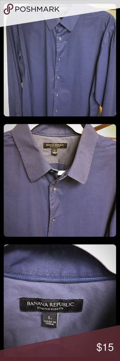 Slim Fit Casual Button Down Shirt ONLY WORN ONCE! Soft and very comfortable. No signs of wear. Negotiable price! Banana Republic Shirts