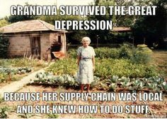 My grandparents raised all 7 of their kids on a farm. My grandmother made 72 biscuits every morning for breakfast. Nothing was ever wasted. I wish I could've grown up like that