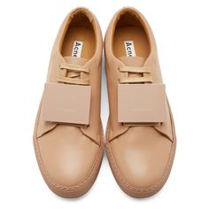huge selection of 62bf3 62bef Acne Studios Nude Leather Adriana Turnup Sneakers Nude Shoes, Lace Up Shoes,  Tap Shoes