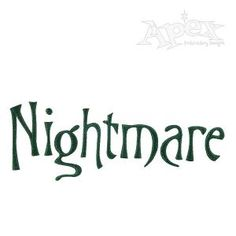 "Nightmare Christmas Embroidery Font. Great font for any day Size is 2"" and 3"" sets"