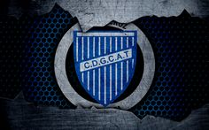 Download wallpapers Godoy Cruz, 4k, Superliga, logo, grunge, Argentina, soccer, football club, metal texture, art, Godoy Cruz FC