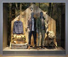 Retail window displays jack & jones window displays window d Fashion Retail Interior, Clothing Store Interior, Clothing Store Displays, Clothing Store Design, Window Display Retail, Window Display Design, Retail Windows, Window Displays, Retail Displays