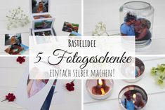 DIY: 5 unusual photo gifts to make yourself quickly and easily - DIY 5 wonderful photo gifts made quickly and easily by yourself with the HP Tango X. Valentines Day Drawing, Valentines Day Messages, Valentines Day Gifts For Him, Unusual Photo Gifts, Gratis Download, Diy 3d, Diy Food Gifts, Photo On Wood, Homemade Crafts
