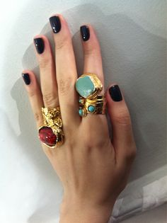 Doubled up YSL rings