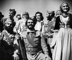 Portrait of Greek partisans, members of the Cretan Resistance. The Cretan Resistance was an armed movement against the occupying forces of Germany and Italy by the residents of the Greek island of Crete - part of the larger Greek Resistance. Battle Of Crete, Greek Flag, Greek History, In Ancient Times, Second World, Military History, Greek Islands, World War Two, Ww2