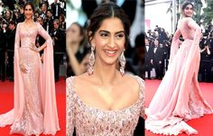 Cannes 2017: #SonamKapoor Flaunts The Golden Gown In Style