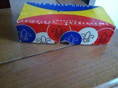 Fleur de lis 1940's embossed poker chips on Etsy, $15.00
