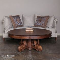 Antique Furniture | Antique Occasional Tables | Coffee Tables | 19th Century French Walnut Coffee Table | www.inessa.com