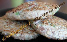 Dukan Tuna Burger - Dukan Diet Recipe - Delicious recipes for the Dukan Diet Dukan Diet Recipes, Healthy Recipes, Healthy Foods, Tuna Burgers, High Sugar, Recipe Sites, Pinterest Recipes, Food Lists, Healthy Choices