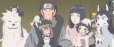 KibaHina family by Hinata Hyuga, Neji And Tenten, Naruto Shippuden, Naruto Boys, Naruto Gif, Naruto Gaiden, Naruto And Hinata, Kiba And Akamaru, Arte Do Hip Hop