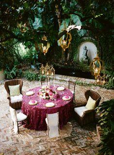 Romantic Aubergine French Quarter Wedding Inspiration   Wedding Ideas