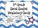 5th Grade Social Studies Vocabulary Cards