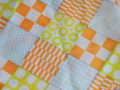 Vintage Head Scarf / 60s Geometric Orange and Yellow Rectangular Scarf / Bright Skinny Scarf by VintageBaublesnBits on Etsy