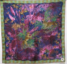 Wearing Scarves, How To Wear Scarves, Missoni, Kenzo, Leonard Paris, Tie Dye Skirt, Outdoor Blanket, Vintage, Silk
