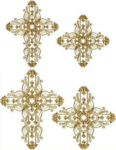 GOT THESE.  Golden Crosses.  Ageless Embroidery.  Free