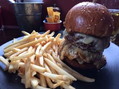 The famous Baroque's truffled cheeseburger. Double up! One of the best burgers in Sydney!