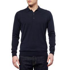 JOHN SMEDLEY Cotswold Merino Wool Polo Shirt £129.17