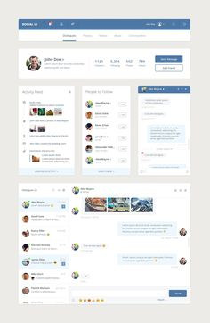 Social UI kit by alexgilev on @creativemarket