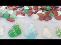 DIY Seaglass Necklaces - great for crafty teenagers! YouTube