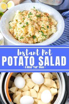 Making Potato Salad, Homemade Potato Salads, Easy Potato Salad, Instapot Potato Salad, Instant Pot Potato Recipe, Best Instant Pot Recipe, Instant Pot Dinner Recipes, Instant Pot Pressure Cooker, Pressure Cooker Recipes