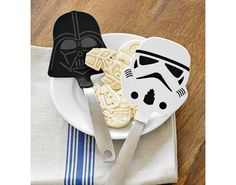 I NEED a nice thick spatula, and I have handled these and they are a definite want, but I would settle for just a nice thick silicone spatula, sans the geekery, P.S. These are Williams-Sonoma from their Star Wars collection.