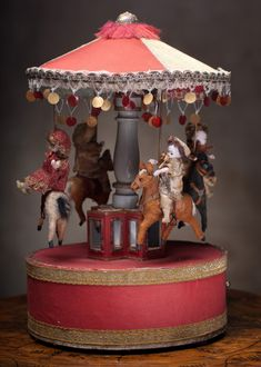 "15"" (38 cm) Rare Wonderful Rare French Mechanical Musical Automaton by Renou"