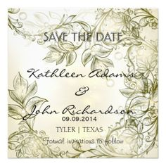 Save the date floral vintage announcement card #savethedate #wedding