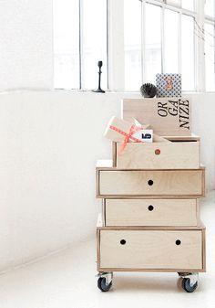 Una cajonera informal, ideal para espacios desestructurados
