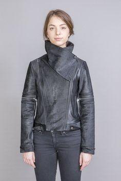 Sally Laether Jacket Winter 2017, Fall Winter, Lambskin Leather, Leather Jacket, Pony Hair, Dark Fashion, S Models, Moto Jacket, Sally