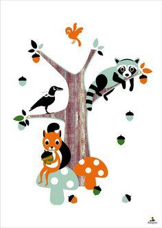 Forrest Friends by Miss Honeybird