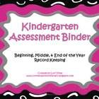 This assessment data binder is a tool for organizing and keeping all of your individual student and whole class assessment data in one place.  It i...