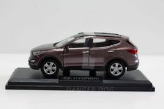 Miniature Car Hyundai SANTAFE Wine Diecast Toy Vehicles Collector Scale 1:38 #HYUNDAI #HYUNDAI