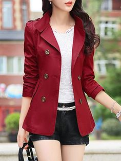 HyBrid Womens Casual Work Office Open Front Cardigan Blazer Jacket Made in USA Casual Blazer Women, Blazers For Women, Coats For Women, Clothes For Women, Blazer Outfits, Blazer Fashion, Fashion Outfits, Fashion Boots, Warm Outfits