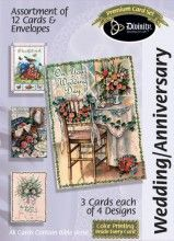 Boxed Gift  Cards Anniversary/Wedding <BR> Mixed Scripture  (Package of 12)